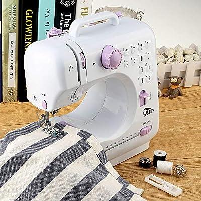 Uten Mini máquina de coser pequeña para principiantes con 12 ...