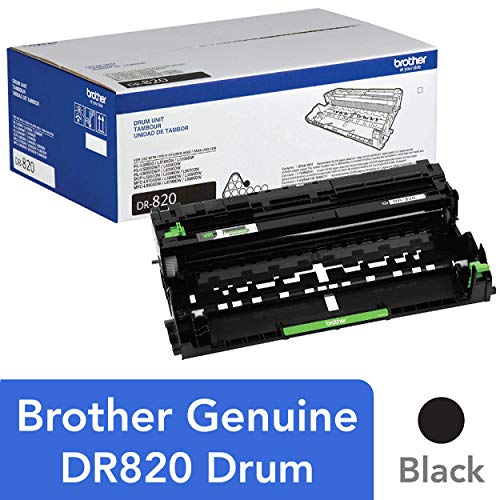 Brother Genuine Drum Unit, DR820, Seamless Integration, Yields Up to 30,000 Pages, Black ()