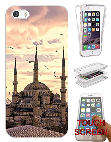 "002902 - Muslim Blue Mosque Istanbul Turkey Allah Prayers Design iphone 6 Plus / 6S plus 5.5"" Fashion Trend Silikon Hülle Komplett 360 Degree Protection Flip Schutzhülle Gel Rubber Silicone Hülle"