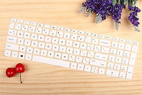 White Silicone Keyboard Cover Protect Skin for HP Pavilion 1