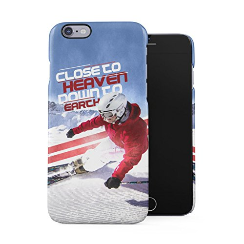 Xtreme Alpine Mountain Ski Close To Heaven Sport Quote Plastic Phone Snap On Back Case Cover Shell For iPhone 6 Plus & iPhone 6s Plus
