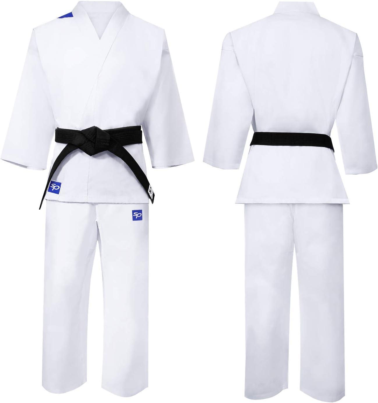 110-190 cm Incluye cintur/ón Blanco Gratis Algod/ón Ligero Hombres Mujeres y Ni/ños Uniforme Profesional para Entrenamiento y competici/ón Starpro Karate Gi Blanco