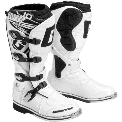 Gaerne Sg10 Motocross Boots - Gaerne SG10 Mens White Motocross Boots - 8