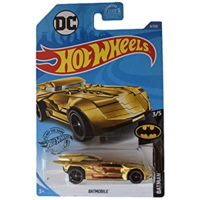 Hot Wheels Batmobile 9/250, Gold: Toys & Games