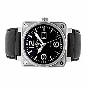 Bell & Ross BR 01 automatic-self-wind mens Watch BR01-96-S (Certified Pre-owned)