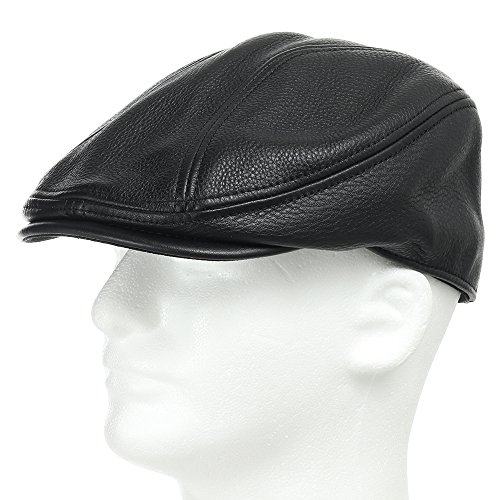 (STOCKTON DRIVING CLASSIC Leather Ivy Unique Caps Hat 7 1/2)