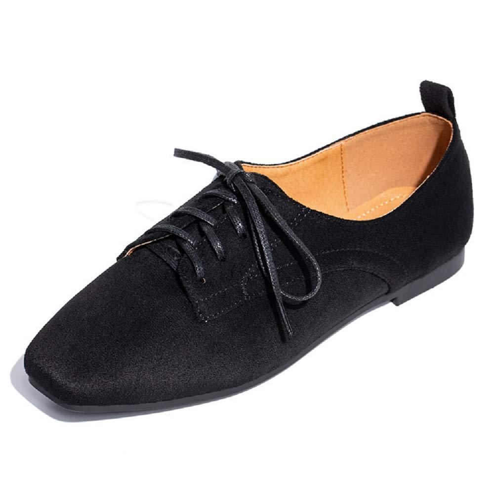 Qiusa 19975 Ballerines B00IJNL1GC à Lacets Femmes Chaussures en Daim à en Talons compensés (coloré : Noir, Taille : EU 36) Noir 1550f9a - automaticcouplings.space