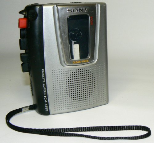 Sony Pressman TCM-455V Portable Cassette Tape Recorder w/ VOR & Built-in Speaker by Sony (Image #2)