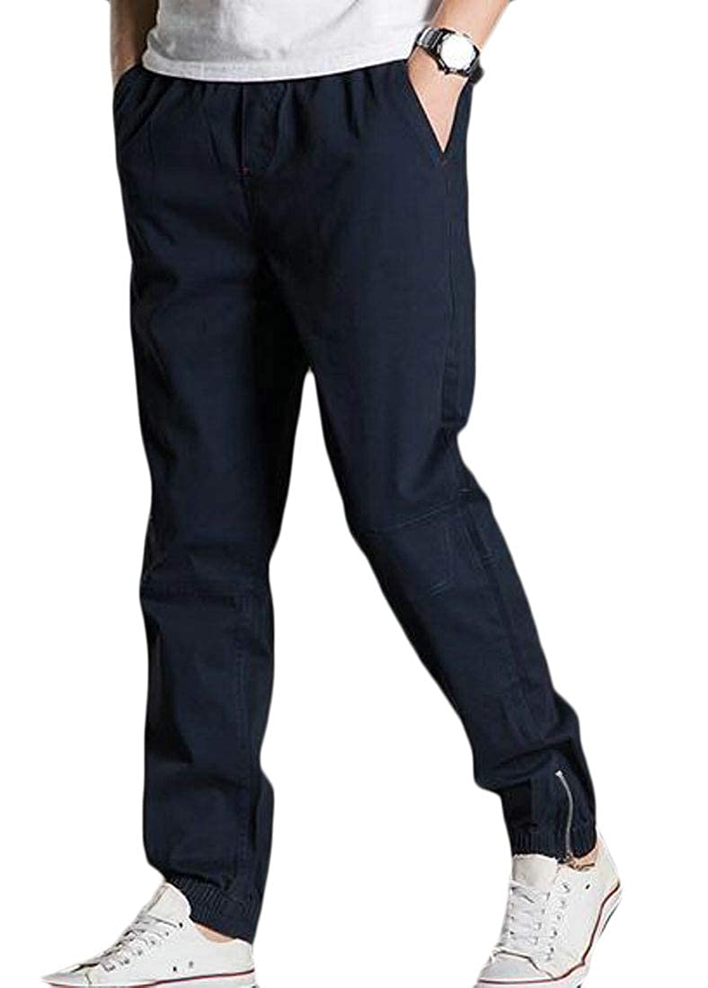 Nanquan Men Simple Close Bottom Oversized Casual Straight Fit Cargo Pants