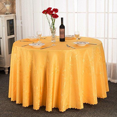 B 160cm BAIJJ Nappe de Table Ronde en Tissu de Style européen Hotel Restaurant Grande Nappe Ronde (Couleur  B, Taille  160cm)