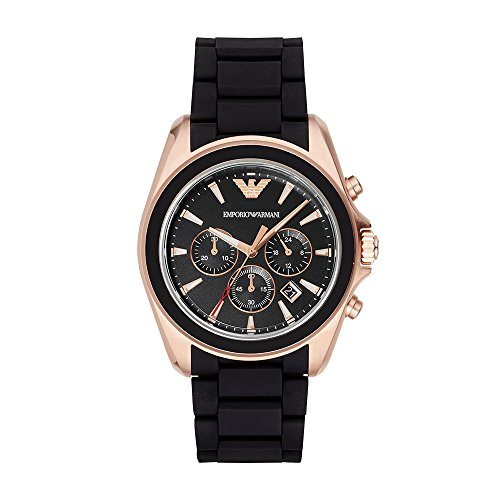 - Emporio Armani Men's AR6066 Sport Black Silicone Watch