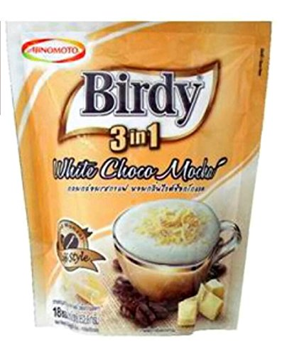 BIRDY 3 IN 1 INSTANT COFFEE MIX WHITE CHOCO MOCHA 19.6G. PACK 18STICKS (3 In 1 Green Coffee Bean compare prices)