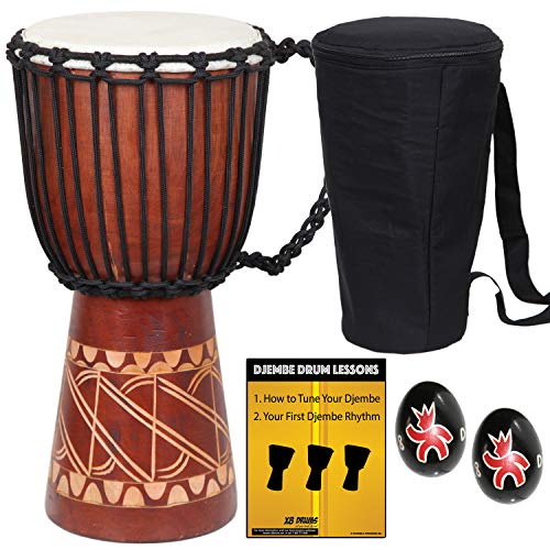 X8 Drums Djembe Brown 8.5-inch X8-DJ-BKP-73 ()