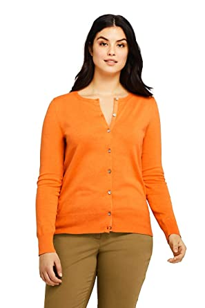 ae1582c3903 Lands' End Women's Plus Size Supima Cotton Cardigan Sweater at Amazon  Women's Clothing store: