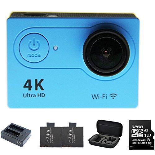 1080p H.264 30fps Full HD Waterproof Wi-Fi Sports Camera (Blue) - 9