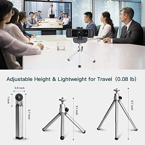 Webcam 1080P 60FPS with Microphone for Streaming, Advanced AutoCenter of attention, w/Privacy Cover and Tripod, NexiGo N680P Pro Computer Web Camera for Online Learning, Skype Zoom Teams, Mac PC Laptop Desktop