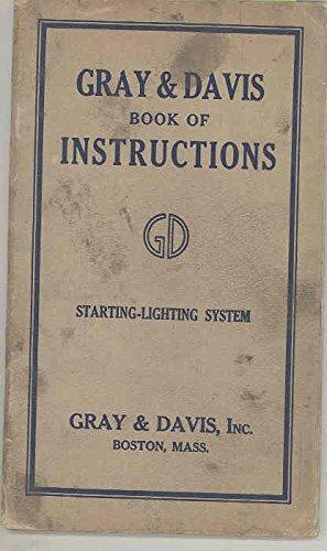 1916 1920 ? Gray & Davis Automobile Starting Lighting Brochure Manual
