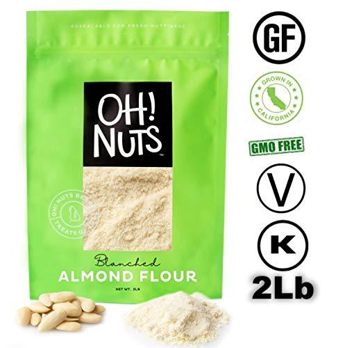 2LB Almond Flour Blanched, Flour, Extra Fine Ground Almond Meal - Oh! Nuts (2 LB Bag Blanched Almond Flour