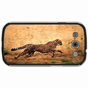 New Style Customized Back Cover Case For Samsung Galaxy S3 Hardshell Case, Black Back Cover Design Cheetah Personalized Unique Case For Samsung S3