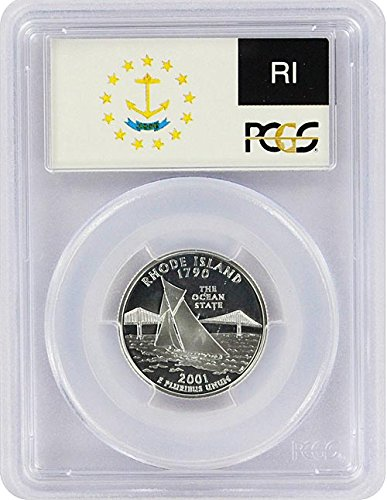 2001 Rhode Island State S Silver Proof Quarter PR-69 PCGS