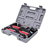 Ambienceo 7Pcs Panel Beating Hammers Dollies Auto Body Shaping and Forming Repair Kit Tool Set with...