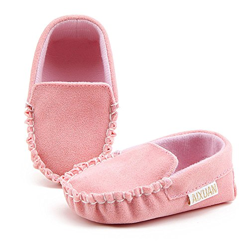 bescita Baby Mädchen Doppel Velours Weiche Sohle Schuh Weiche Schuhe Flats Schuhe (12, Rosa)