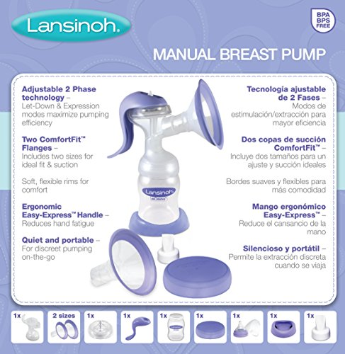 Lansinoh Manual Breat Pump with Stimulation and Expression Modes