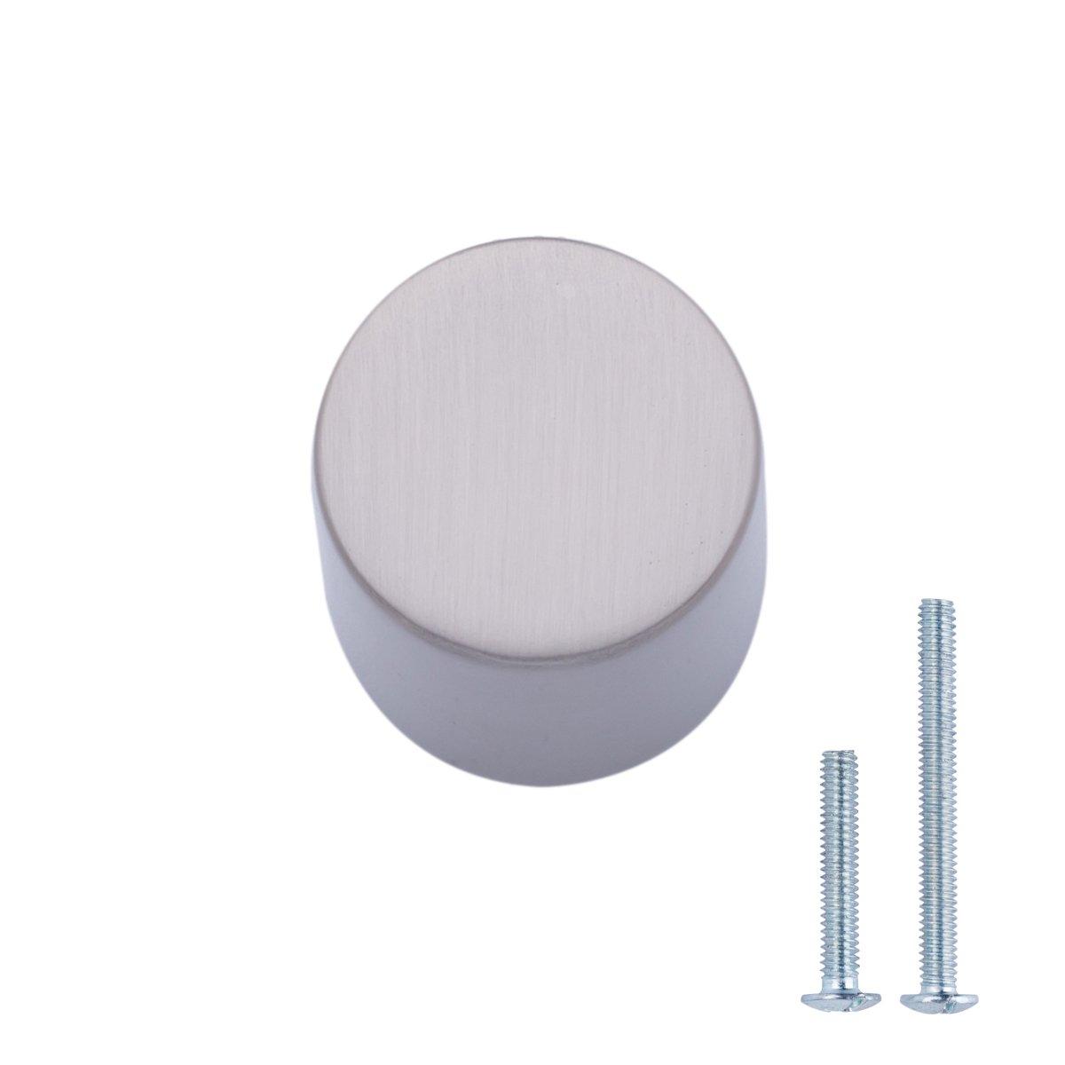AmazonBasics Whistle Cabinet Knob, 0.75'' Diameter, Satin Nickel, 25-Pack