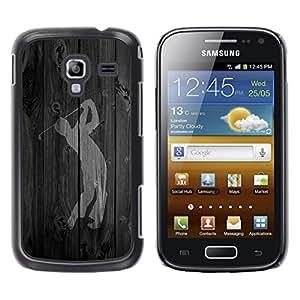 TopCaseStore / la caja del caucho duro de la cubierta de protección de la piel - Golf Swing Word - Samsung Galaxy Ace 2 I8160 Ace II X S7560M