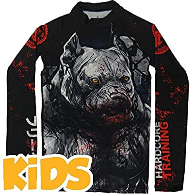 Hardcore Training Kids Rashguard PitbullCity MMA Fitness Boys