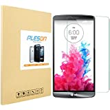 PLESON® LG G3 [Tempered Glass] Screen Protector, 0.3mm Ultra Thin 9H Hardness 2.5D Round Edge Premium 9H Ballistics Glass Screen Protector Featuring Anti-Scratch, Anti-Fingerprint, Bubble Free, No Rainbow Screen, Explosion-Proof, Maximum Screen Protection from Bumps, Drops, Scrapes, and Marks -[Lifetime Warranty] - Retail Packaging