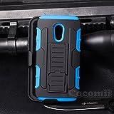 For Motorola Moto G2 Case, Cocomii Robot Armor NEW [Heavy Duty] Premium Belt Clip Holster Kickstand Shockproof Hard Bumper Shell [Military Defender] Full Body Dual Layer Rugged Cover XT1068 (Blue)