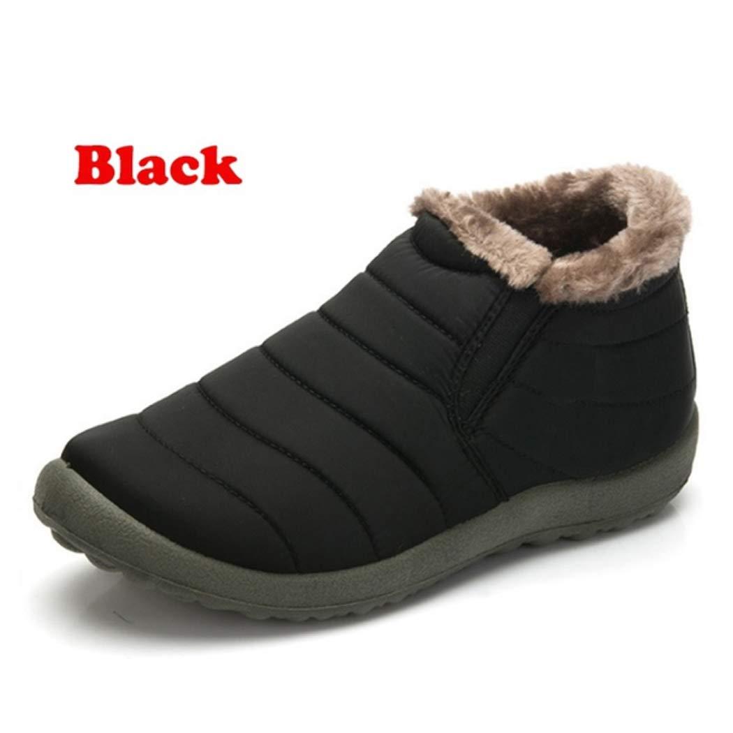IDCB Mens Winter Snow Boots Flat Warm Casual Fashion