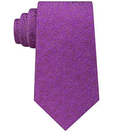 Sean John Men's Floral Solid Tie, Medium Purple, One Size