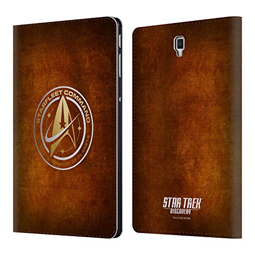 Official Star Trek Discovery Starfleet Distressed Badges Leather Book Wallet Case Cover for Samsung Galaxy Tab S4 10.5 (2018)