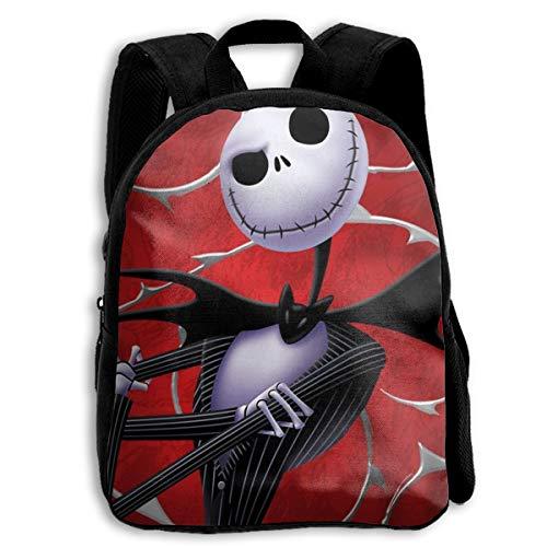 Skellington School Backpack Casual School Bags Outdoor Storage Bag Travel Shoulders Bag Foldable Backpack ()