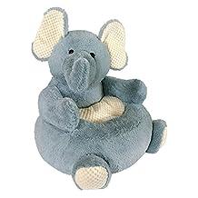 Stephan Baby Plush Elephant Chair, Grey, Cream