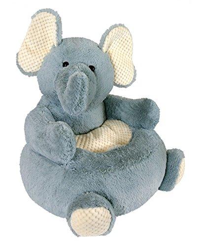 Stephan Baby Plush Nursery Decor Chair, Grey Elephant