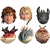 Multipack - 6 Official How to Train Your Dragon 2 Face Masks