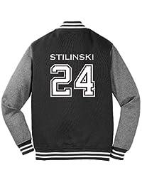 Adult Teen Wolf Beacon Hills Stilinski Sweatshirt Jacket (Small, Black)