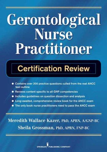 Gerontological Nurse Practitioner Certification Review Pdf