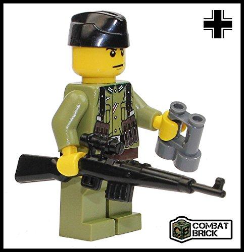 CombatBrick Premium Limited Edition Toy Soldier Minifigure - Custom WWII German Sniper