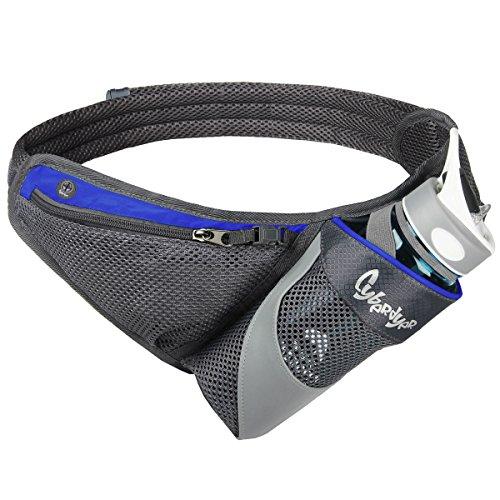 PYFK Running Water Bottle Belt - Hydration Waist Bag for Men Women Fanny Pack Waist Pouch, BOTTLE NOT INCLUDED
