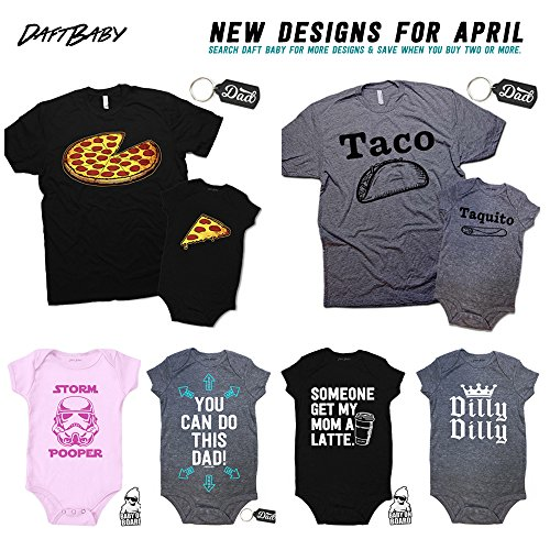 cd381f4db Funny Pizza Pie & Slice Dad & Baby Matching Clothing Set Shirt & Onesie  Shower Gift