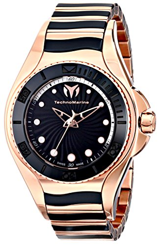 TechnoMarine-Womens-214002-Blue-Manta-Analog-Display-Swiss-Quartz-Black-Watch