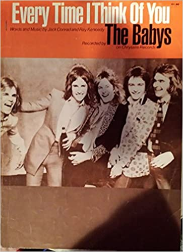 The Babys - Every Time I Think Of You - Sheet Music - Vocal / Piano ...