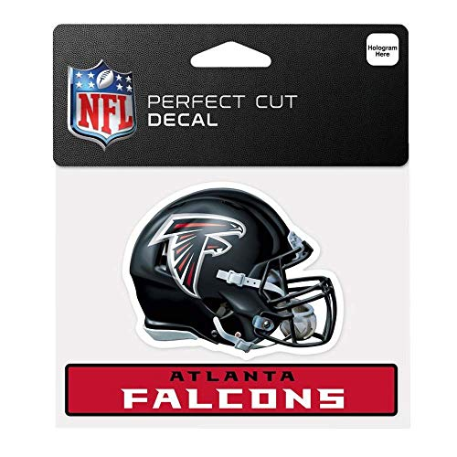 Bek Brands Licensed Professional Football Teams 4 x 5 Cling Decal for Cars, Windows and More, Helmet (Atlanta Falcons)
