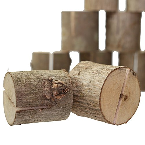 Happy Magnolia 12 Pack Wooden Place Card Holders With Bonus 12 Place Cards For Wedding Home Business Birthday Party Decorations Table Numbers Made From All Natural Hardwood by Happy Magnolia (Image #2)