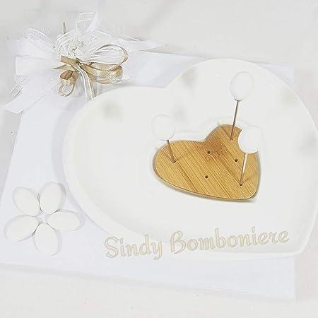 Bomboniere Matrimonio Utili Per Casa.Antipastiera Ceramica Bianca Cuore Originale Bomboniera Utile Per
