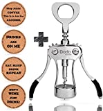 Stainless Steel Wine and Beer Bottle Opener + 4 Drink Coasters by Dodo Kitchen Wing Corkscrew, Multifunctional gIft set